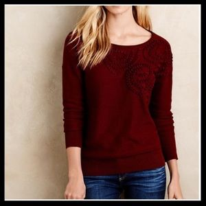 Anthro Plenty Tracy Reese Abstract Roses Sweater